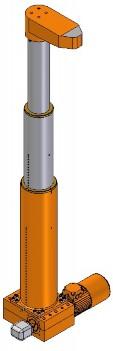 telescopic electrocylinder