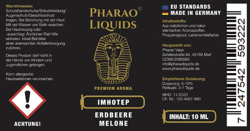 Imhotep - Erdbeer-Melonen Mix - Aroma 10ml